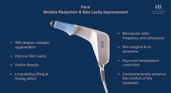 exilis ultra 360 face tightening, anti aging, ageless medi-aesthetics, dr lam bee lan, skin laxity, monopolar radio frequency, Ultrasound, body lifting, skin tightening, skin lifting. face lift